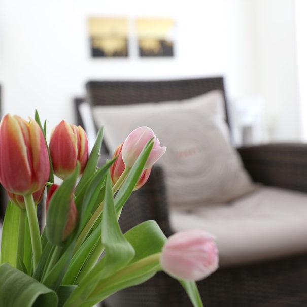 Blumen in der Ferienwohnung Achtern Diek