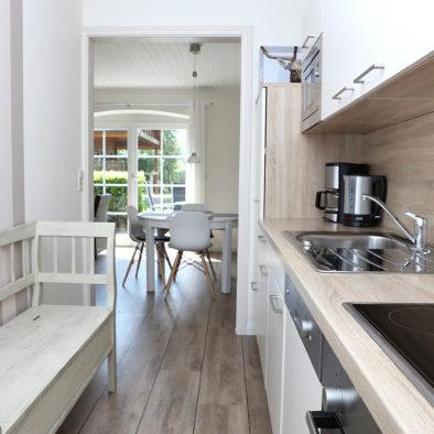 Küche in der Ferienwohnung Achtern Diek