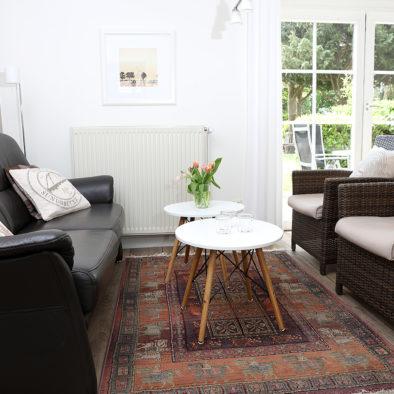 Wohnzimmer der Ferienwohnung Achtern Diek