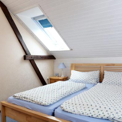 Schlafzimmer der Ferienwohnung Dörpskieker