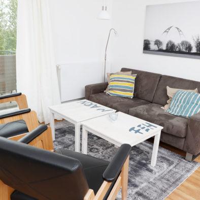 Wohnzimmer der Ferienwohnung Dörpskieker