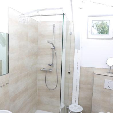 Badezimmer der Ferienwohnung Landleev