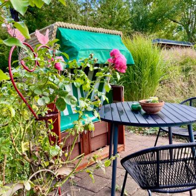 Terrasse der Ferienwohnung Sünnschien