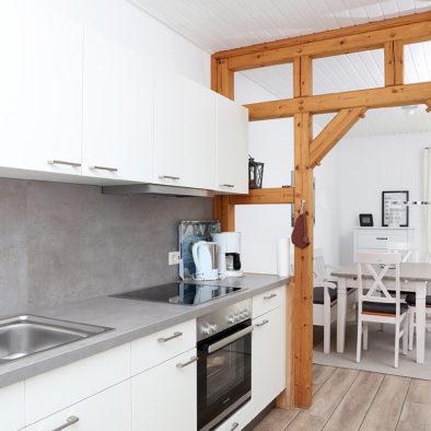 Küche der Ferienwohnung Utspann