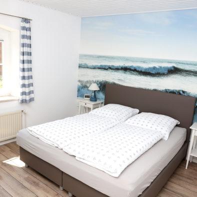 Schlafzimmer der Ferienwohnung Utspann