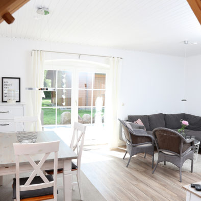 Wohn- und Esszimmer der Ferienwohnung Utspann