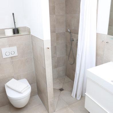 Badezimmer der Ferienwohnung ole Backstuv