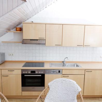 Küche der Ferienwohnung Buernsuite