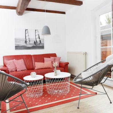 Wohnzimmer der Ferienwohnung Landleev