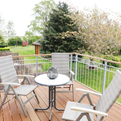 Balkon mit Blick ins Grüne von der Ferienwohnung Sperlings Lus