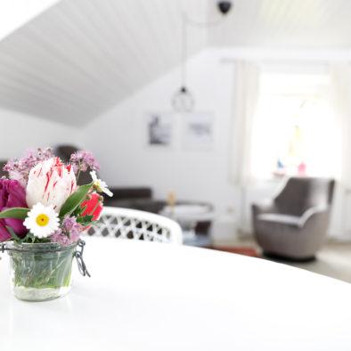 Blumen in der Ferienwohnung Sünnschien