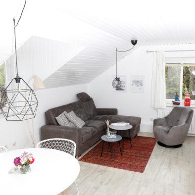 Wohnzimmer der Ferienwohnung Sünnschien