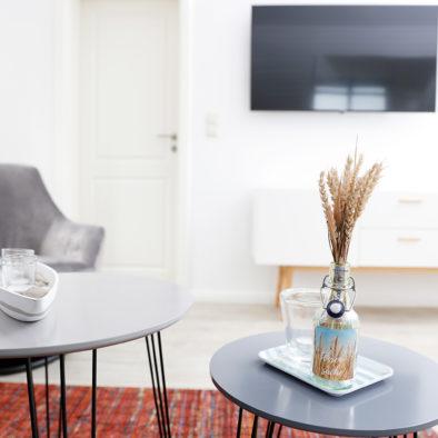 Wohnzimmerecke in der Ferienwohnung Sünnschien
